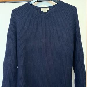 Men's J Crew navy v-neck sweater